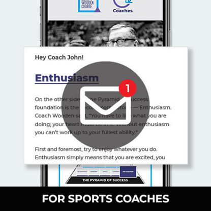 Picture of Wooden 52-Weekly Emails for Sports Coaches